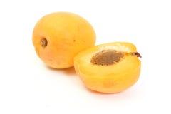 половины абрикоса Стоковые Фото