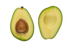 2 половины авокадоа изолированной на белой предпосылке Стоковая Фотография