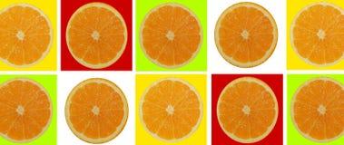 2 половины апельсина на изолированной белой предпосылке Стоковое фото RF