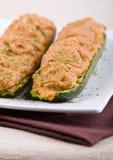 половины заполнили zucchini Стоковые Изображения RF