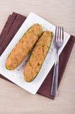 половины заполнили zucchini Стоковое фото RF