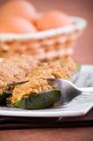 половины заполнили zucchini Стоковая Фотография RF