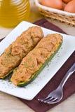 половины заполнили zucchini Стоковые Фото