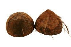 половины кокоса предпосылки изолировали белизну Стоковое Фото