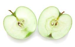 половины яблока Стоковые Фото