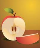Половины Apple Иллюстрация штока