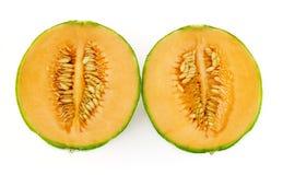 половины cantaloup стоковое изображение