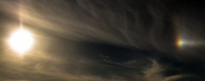 Половин из собаки Солнця стоковые фото