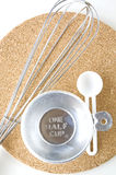 Половин чашек с ложкой Стоковая Фотография RF