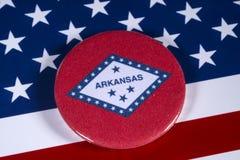 Положение Арканзаса в США Стоковые Изображения RF