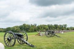Положение артиллерии соединения на Gettysburg стоковая фотография rf