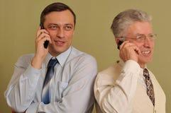 Положение бизнесмена взрослого 2 Стоковая Фотография