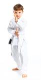 положение бой мальчика aikido Стоковая Фотография RF