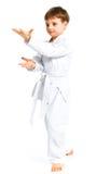 положение бой мальчика aikido Стоковое фото RF