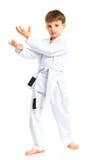 положение бой мальчика aikido Стоковое Изображение RF