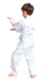 Положение бой мальчика Aikido Стоковые Фото