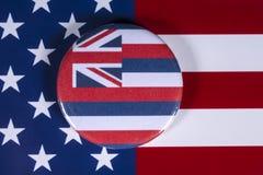 Положение Гаваи в США стоковая фотография rf