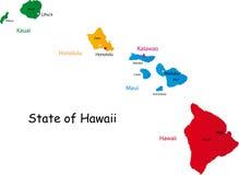 Положение Гавайских островов Стоковое фото RF