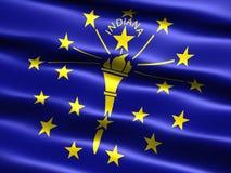 положение Индианы флага Стоковое Изображение