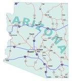 положение карты Аризоны межгосударственное Стоковое фото RF