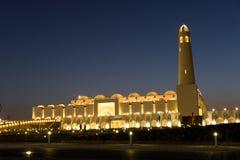 положение Катара мечети doha Стоковые Фото