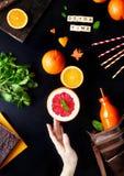 Положение квартиры апельсинового сока вытрезвителя Стоковые Фото