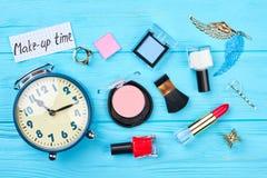 Положение квартиры косметик и аксессуаров состава Стоковые Фото