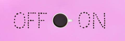 Положение квартиры кофе доброго утра покрашенное пастелью Схематическая мотивировка Чашка кофе Стоковые Фотографии RF