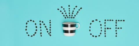 Положение квартиры кофе доброго утра покрашенное пастелью Схематическая мотивировка Чашка кофе Стоковые Изображения RF