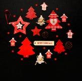 Положение квартиры орнамента рождества Стоковое Изображение
