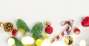 Положение квартиры рождества ввело сцену в моду Стоковые Изображения