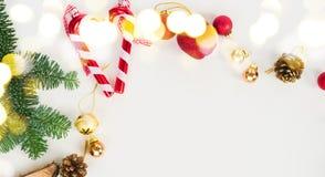 Положение квартиры рождества ввело сцену в моду Стоковые Изображения RF