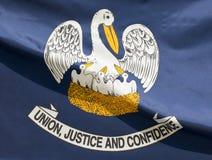 положение Луизианы флага Стоковая Фотография RF