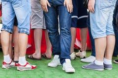 положение людей крышки зеленое Стоковая Фотография RF