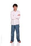 положение мальчика старое 12 год Стоковое Изображение RF
