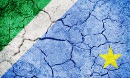 Положение Мату-Гросу-ду-Сул, положение Бразилии, флага Стоковое Изображение