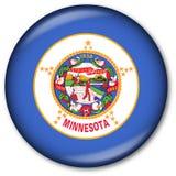 положение Минесоты флага кнопки Стоковая Фотография RF