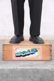 положение мыла коробки Стоковая Фотография