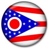 положение Огайо флага кнопки Стоковое Фото