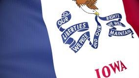 положение Огайо флага бесплатная иллюстрация