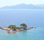 положение острова среднеземноморское Стоковое Изображение