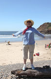 положение парка Орегона ecola свободного полета пляжа индийское стоковая фотография