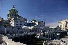 положение Пенсильвании капитолия сложное Стоковое Изображение