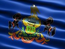положение Пенсильвании флага Стоковые Изображения RF