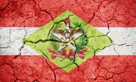 Положение Санта-Катарина, положение Бразилии, флага Стоковые Изображения