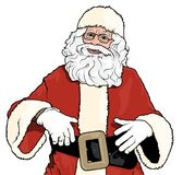 Положение Санта Клауса Стоковое Фото