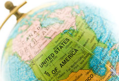 положение США глобуса Стоковые Фотографии RF