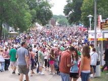 положение толпы справедливое Стоковая Фотография