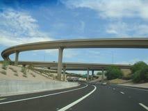 положение трассы скоростного шоссе 51 Аризоны стоковое фото rf