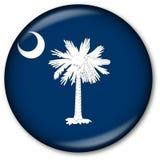 положение флага Каролины кнопки южное Стоковое Изображение RF